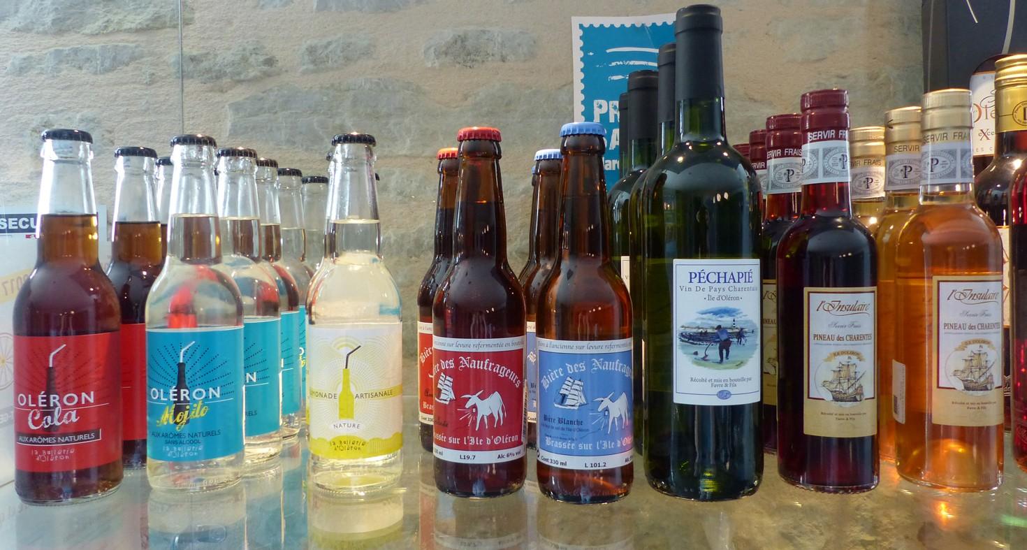 le musee de l'île d'Oléron produits boutique limonade et vin