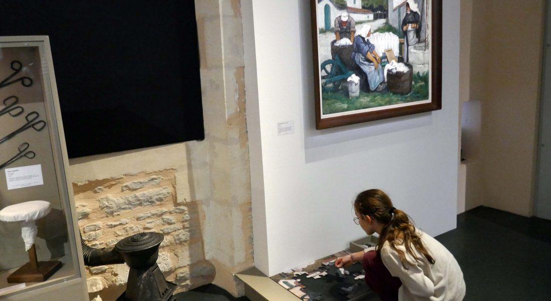 tableau et puzzle Henry Déziré exposition Habits d'autrefois